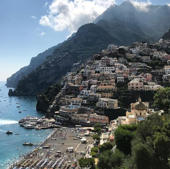 Map Of Positano The Amalfi Coast Positano