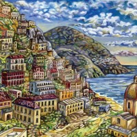 Painting of Positano
