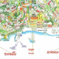 Map of POSITANO The Amalfi Coast