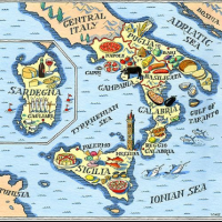 Map Amalfi Coast Italy Naples Sorrento